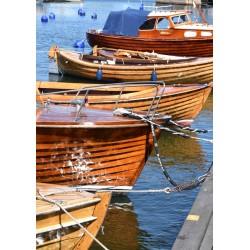 Wooden boats poster | Vintage/retro tavla - Spoca
