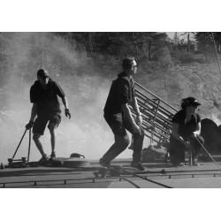 Fotokonst med svart/vit fotografi på torpedbåt.