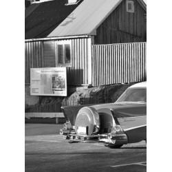 Svartvit tavla från Oskarshamn - Spoca
