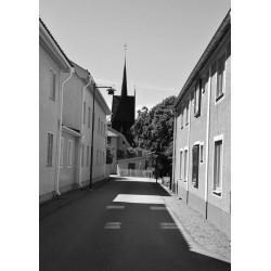 Svartvit Calm street poster | Svartvita tavlor och prints - Spoca