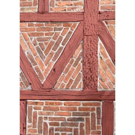 Brick wall poster | Fotokonst med vintage, retro motiv - Spoca