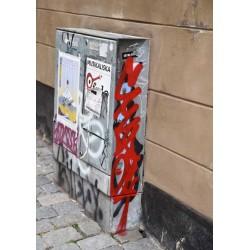 Bill posting poster | Tavla med Stockholmsmotiv - Spoca