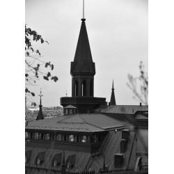 Black house poster | Svartvit tavla Södermalm - Spoca