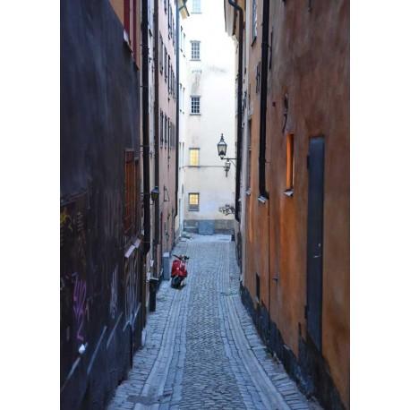 Stockholms alleys poster | Vacker gränd i Stockholm - Spoca