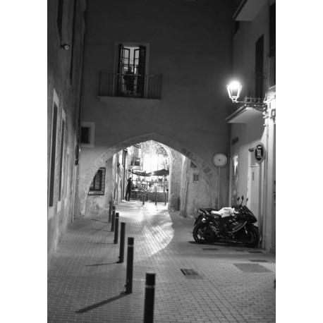 Svartvit evening poster. Fotograferad på Mallorca - Spoca