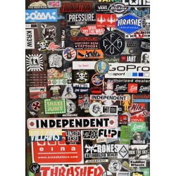 Stickers Mallorca poster. Fotokollage från Mallorca - Spoca