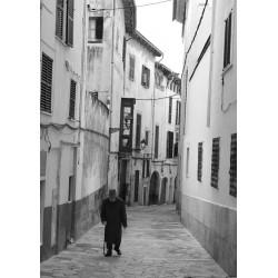Lonely man poster. Fotoposters i svart och vitt - Spoca