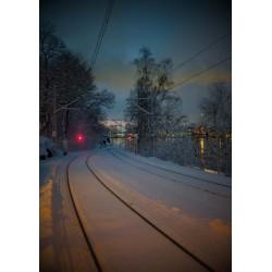 Snygg tavla av vinterlandskap. Köp snygga tavlor online från Spoca
