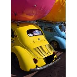 Fototavla av bilar. Fotokonst till ett snyggt tavelkollage