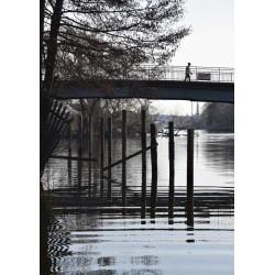 Trendig fotokonst Pålsundsbron. En fotografisk tavla av Klas S.