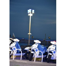 Fotokonst Motorcycles in blue. Köp snygga prints med fotokonst online av Spoca edition