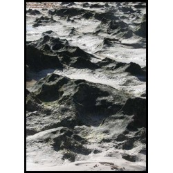 Lava stone tavla. Fotokonst fotograferad på Fuerteventura.