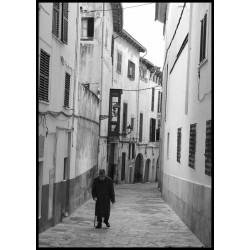 Fotokonst Lonely man. Denna äldre man fotograferade jag i Palma för några år sedan.