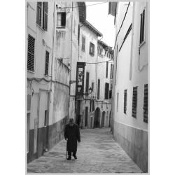 Lonely man print med ram. Fotokonst i svart och vitt - Spoca