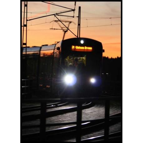 Fotokonst Lidingöbron. Tavla, print med bro mellan Stockholm och Lidingö