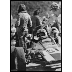 Fototavla av racing 1970-talet