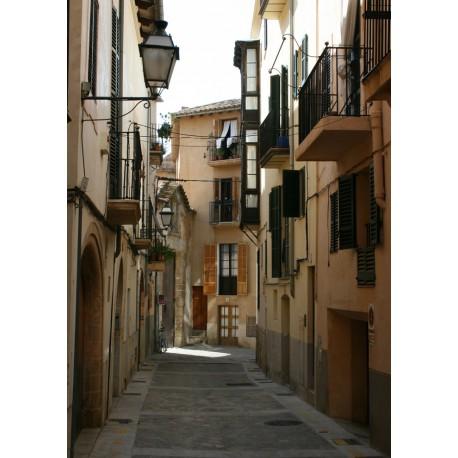 Poster, tavla med fotografi av hus på Mallorca.
