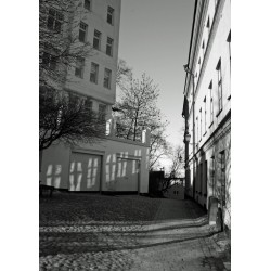 Tavla med svartvit fotografi, vackert Stockholmsmotiv
