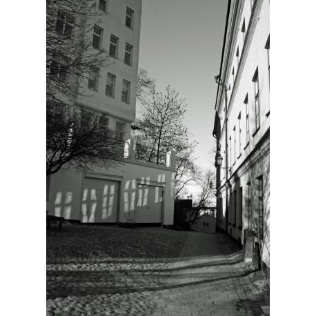 Tavla med svartvit fotografi, vacker grafisk poster