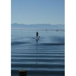 Poster, Blå himmel och hav. Tavla med fina kulörer - Spoca