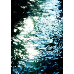 Snygg poster med ljusets speglingar i blått - Spoca