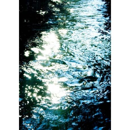 Poster, Vågor i oktober. Vacker abstrakt konst