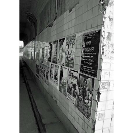 Svartvit poster, Slussen - Stockholm. Fototavla - Spoca