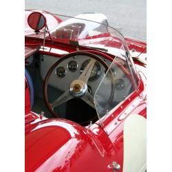 Poster med fotografi på röd sportbil. Vintage motiv.