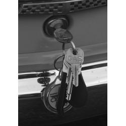 Poster med svartvitt fotografi av nycklar. Fin tavla till hallen - Spoca