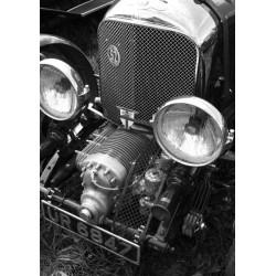 Foto med vintage och motormotiv. Vacker svartvit fotokonst
