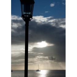 Poster med ensam båt. Beställ snygga kökstavlor online -Spoca