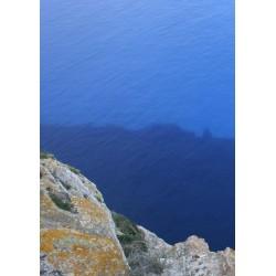 Fin tavla, poster med två nyanser blått. Fototavla