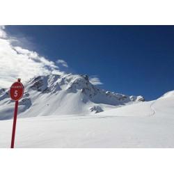 Tavla, poster med motiv franska Alperna. Vacker fotokonst till sovrum, barnrum