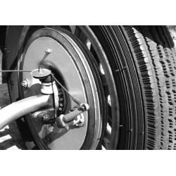 Tavla, poster Vintage hjul. Motor poster i svartvitt