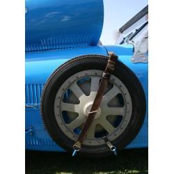 Tavla, poster Bugatti blå. Vintage fototavla