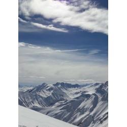 Vita berg poster. Tavlor med naturmotiv i fotokonsten - Spoca