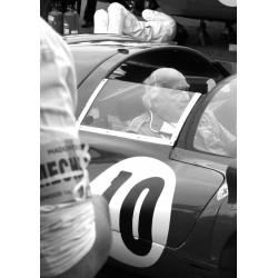 Vintage foto Poster. Tavla med vintage/retro, motormotiv av bil