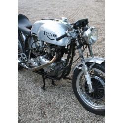 Print, poster. Tavla med vintage/retro motormotiv av motorcykel