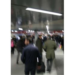 Tunnelbanestation i färger Poster. Fotokonst till vardagsrum
