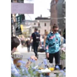 Pulsen i Staden. Fototavla med Stockholmsmotiv