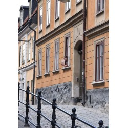 En kvinna i fönstret Poster. Trendig fotokonst, Stockholmsmotiv
