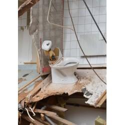 Badrum, toalett urladdning Fotoposter. Fotografisk konst