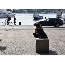 Poster med kvinna i Stockholm. Vackra tavlor i färger - Spoca