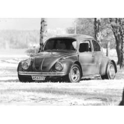 Folkan VW 1500 Poster. Vintage och retro motiv