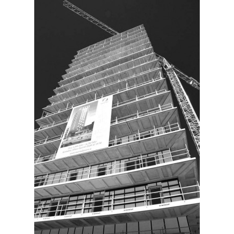 The house against the sky Poster. Snygg fotokonst i svartvitt