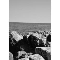Rocks by water Poster. Vacker fotokonst till hemmet