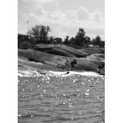 Summer in Grisslehamn Poster. Badberget i Grisslehamn