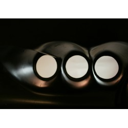 Poster/konstverk med tre hål. Fotoposter med abstrakt motiv.
