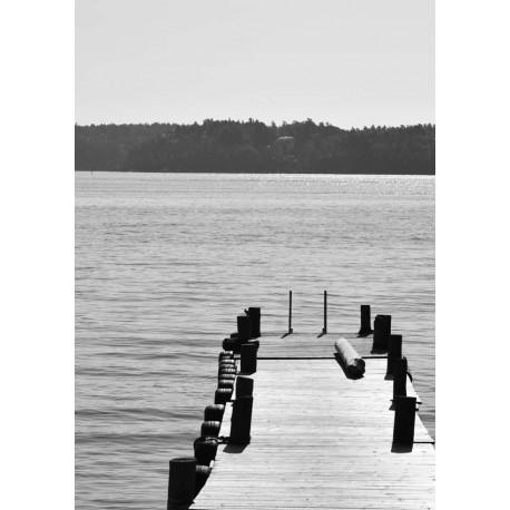 Wooden jetty poster | Fototavla i svartvitt  - Spoca