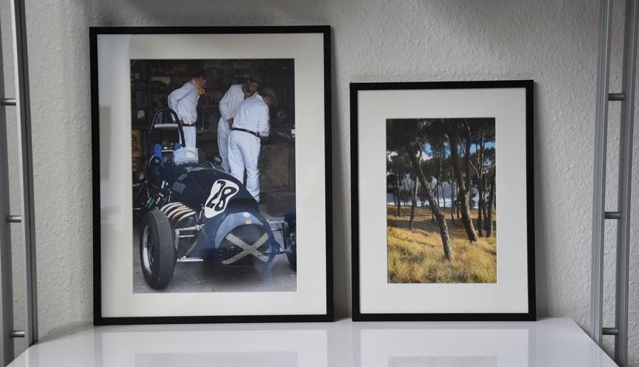 Posters och tavlor med fotografier på natur och motor